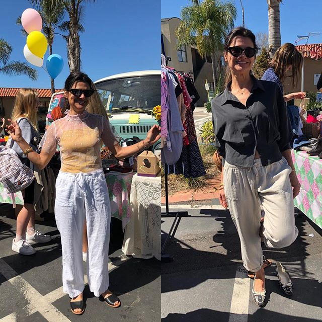 Hurry things are going fast. Privas Vintage pop up and great jewelry from @giustajewels on Cedros today and tomorrow. A portion of the proceeds will go to ADL anti defamation league. Thank you for all who have come out, especially this babe @kitesbycarlamanuel  #shopvintage #vintageclothing