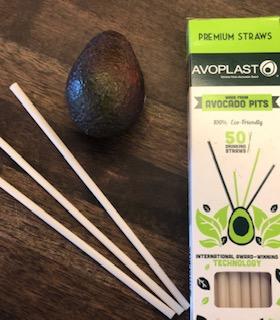 Straws made from avocado pits