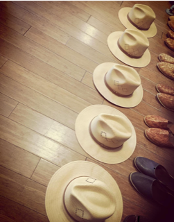 Vanner hats and handmade leather shoes