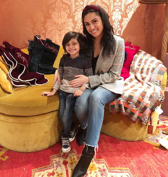 Visited the gorgeous @modaoperandi boutique today for a holiday shop hosted by @mamaandtata! Made ornaments with my little guy and now we're off to dinner - have we mentioned how much we love this time of year ✨❤️