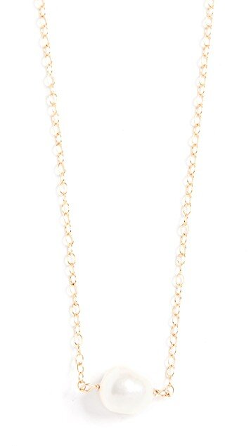 Single Pearl Necklace, Maison Monik, Shopbop