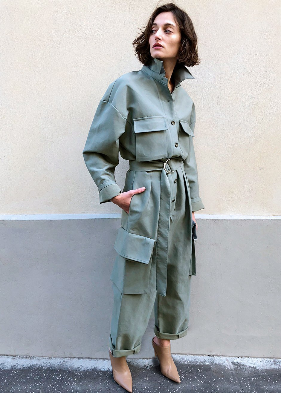 The one seen all over SS 20 fashion month! Linda Jumpsuit, The Frankie Shop