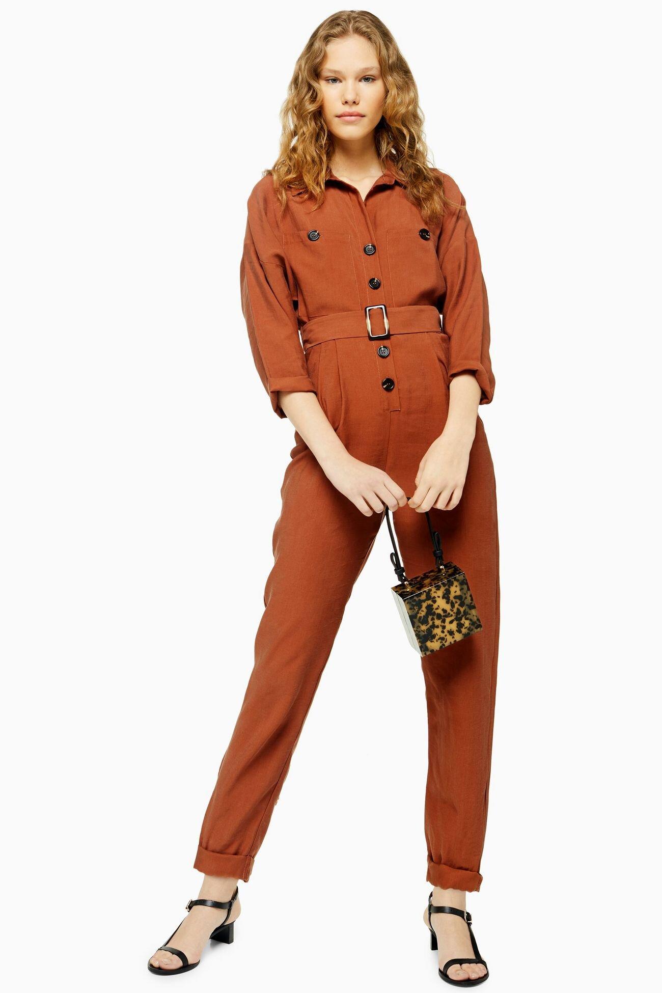 Cupro Boiler Suit, Topshop