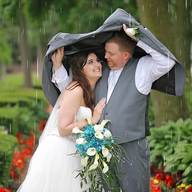 Rain makes beautiful and cute photos