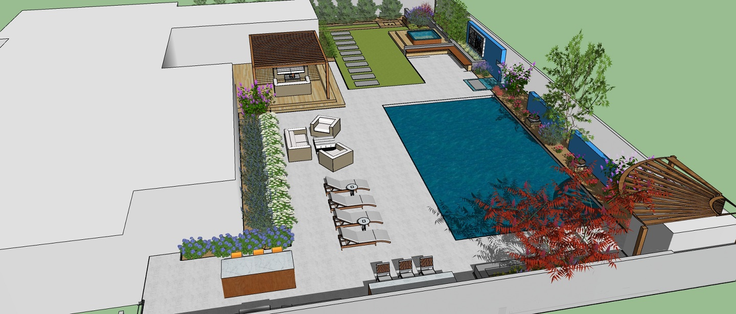 Pool designs with patio in Folsom, CA