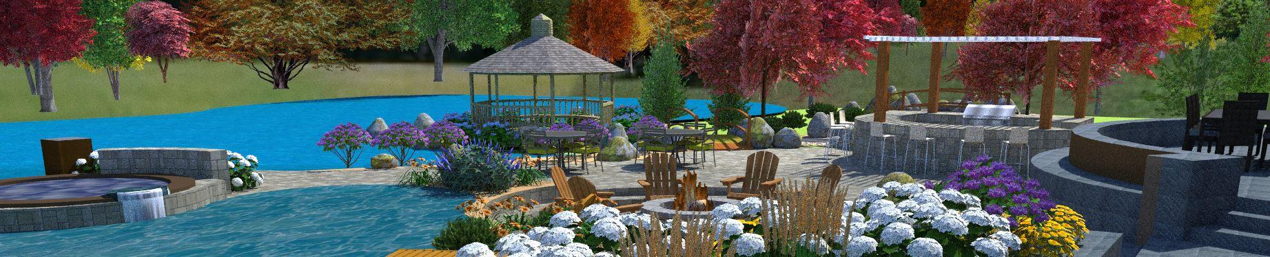 Rocklin CA landscape designer for pool designs