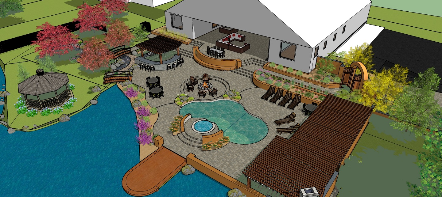 Landscapers near me in Reno, NV with top 3D pool designs