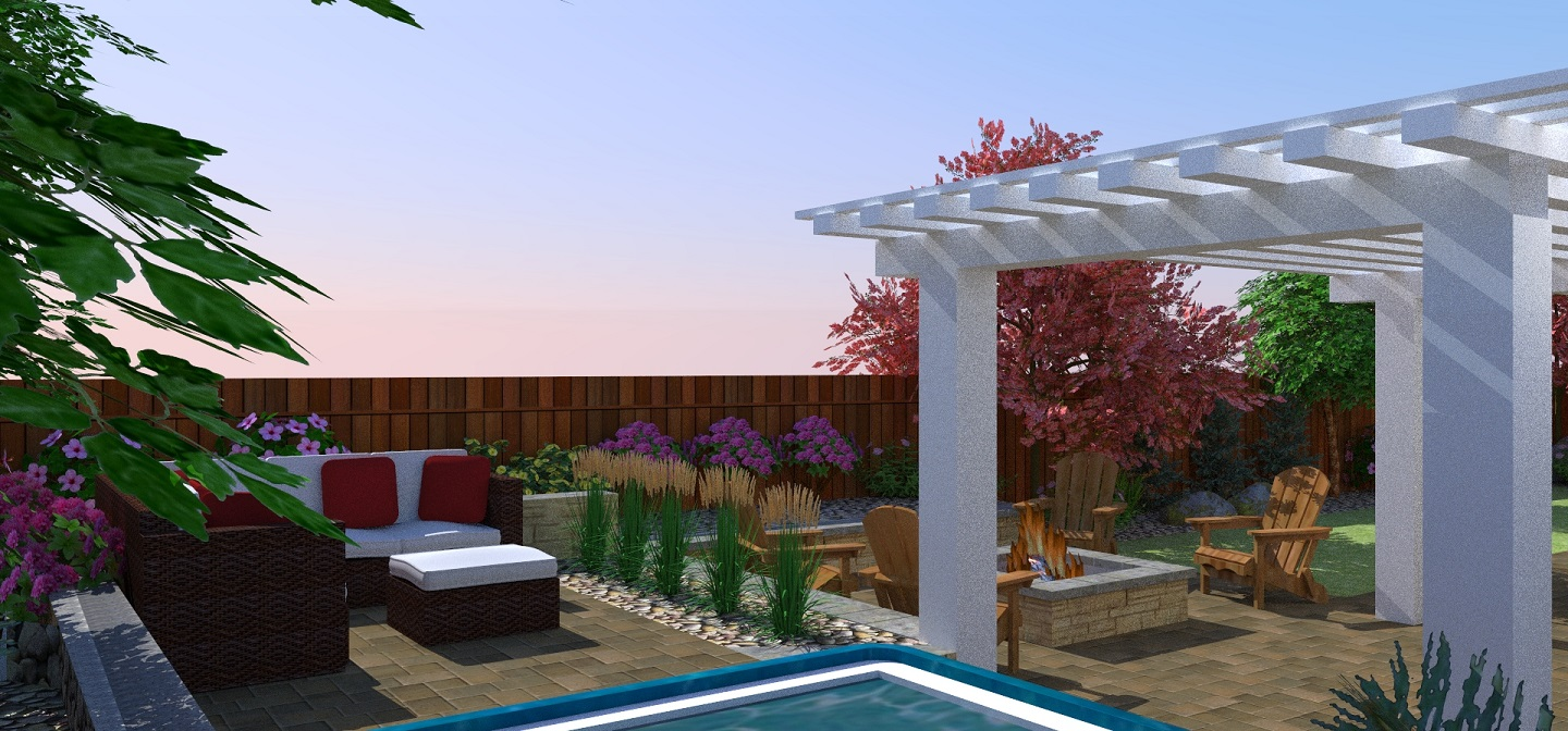 Landscaping companies near me in Sparks, NV with stunning pergola and pool designs