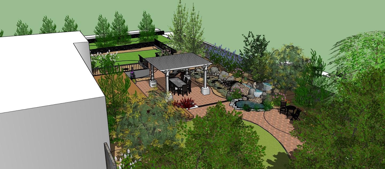 Outdoor living area landscape designer in Rocklin, CA