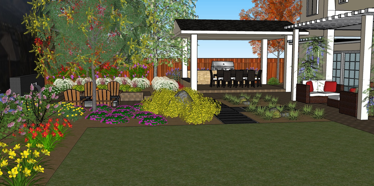 Backyard landscaping services in Reno, NV
