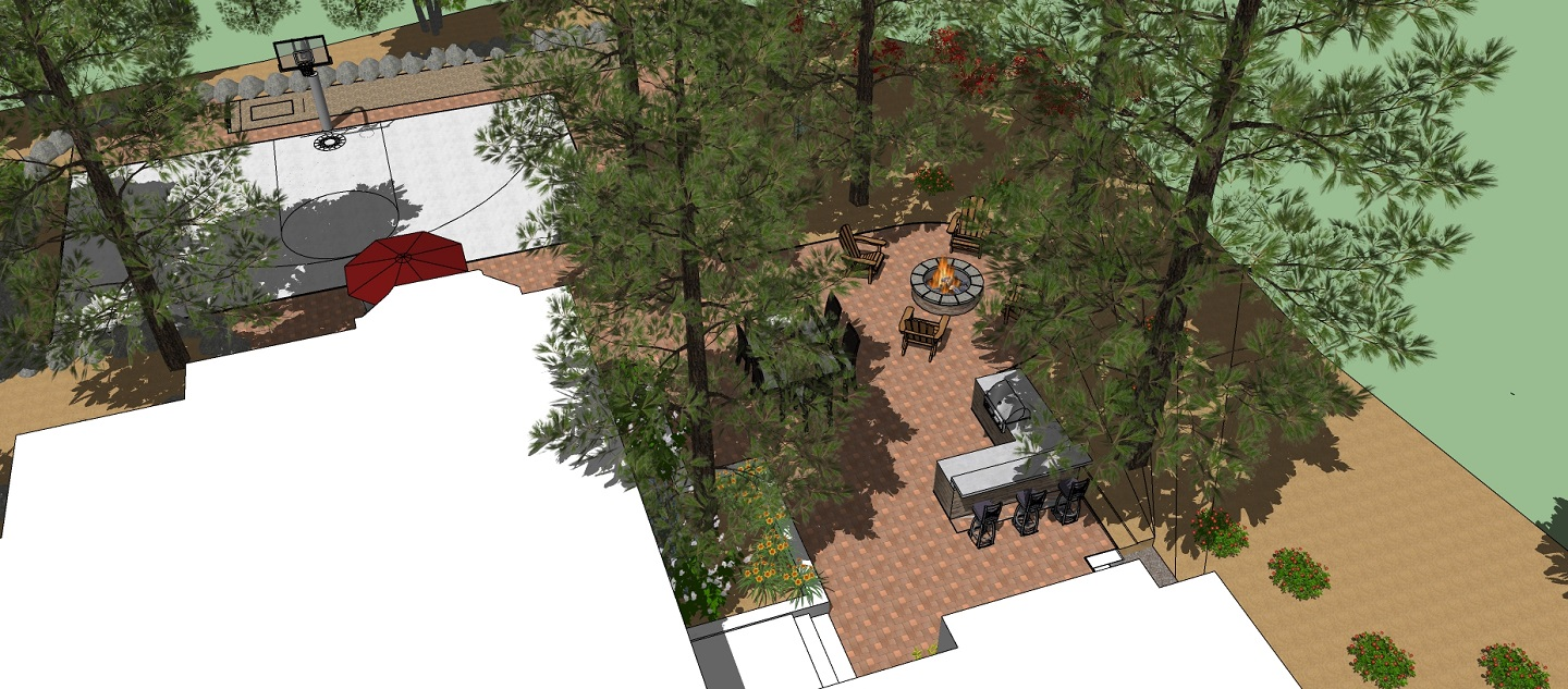 Front yard landscaping services in Rocklin, CA