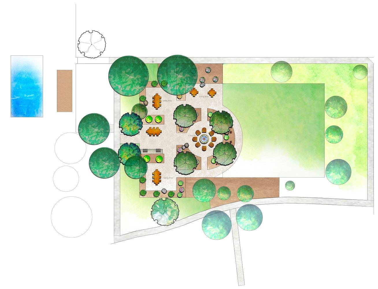2D residential landscape design in Reno NV