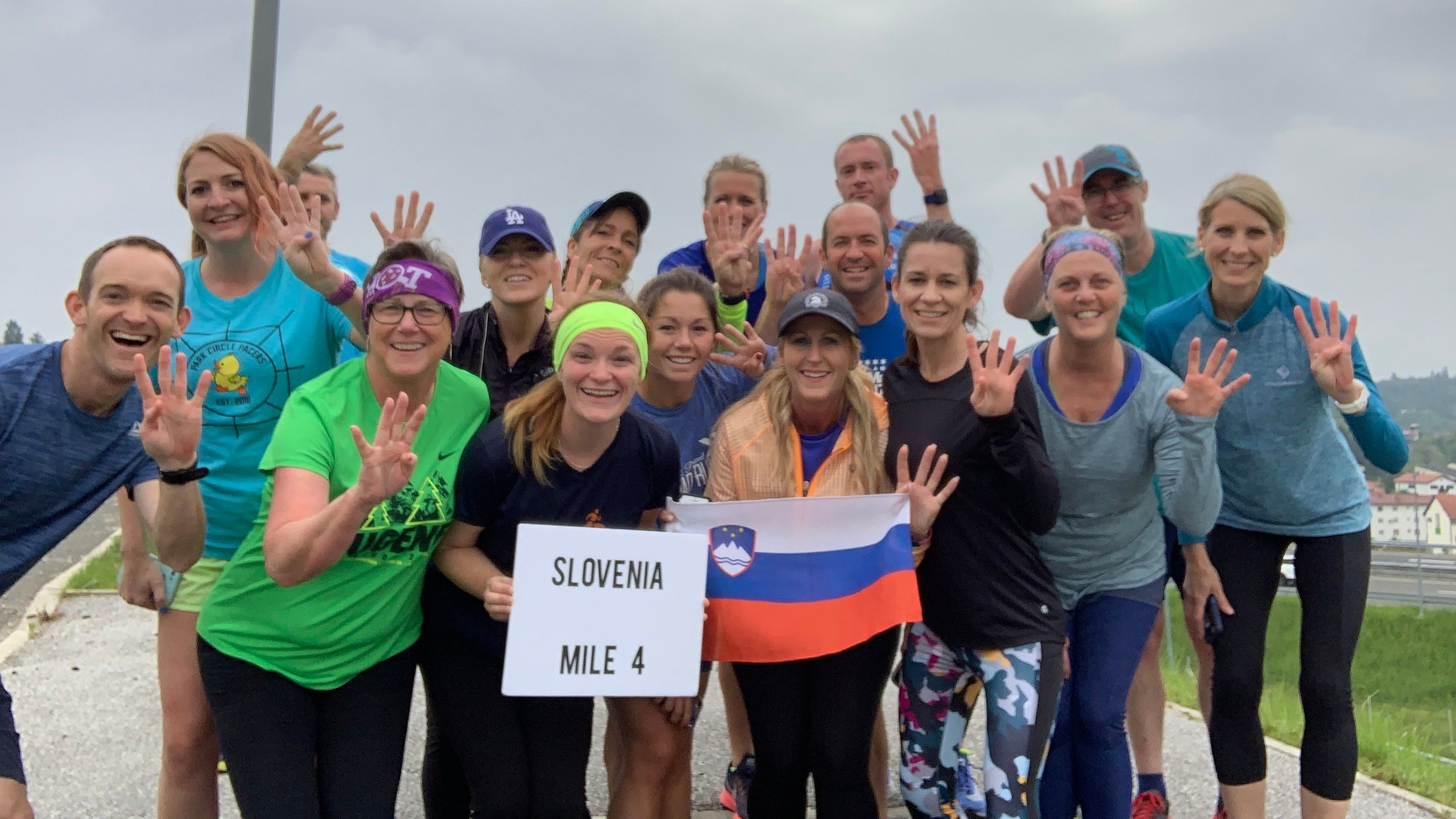 World Record! First known/documented runners to run in at least 4 countries in a single day.