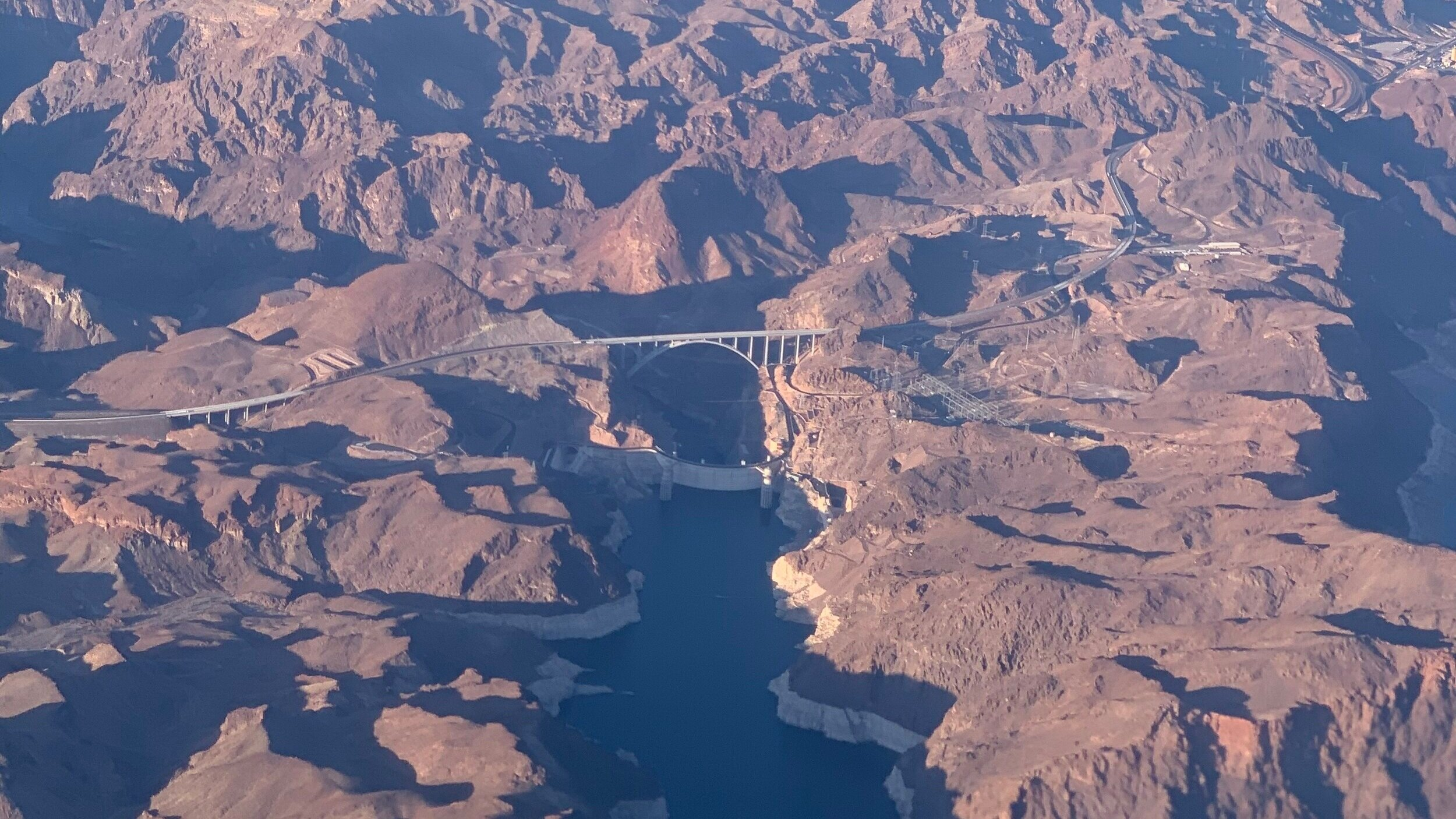 Hoover Dam from the plane