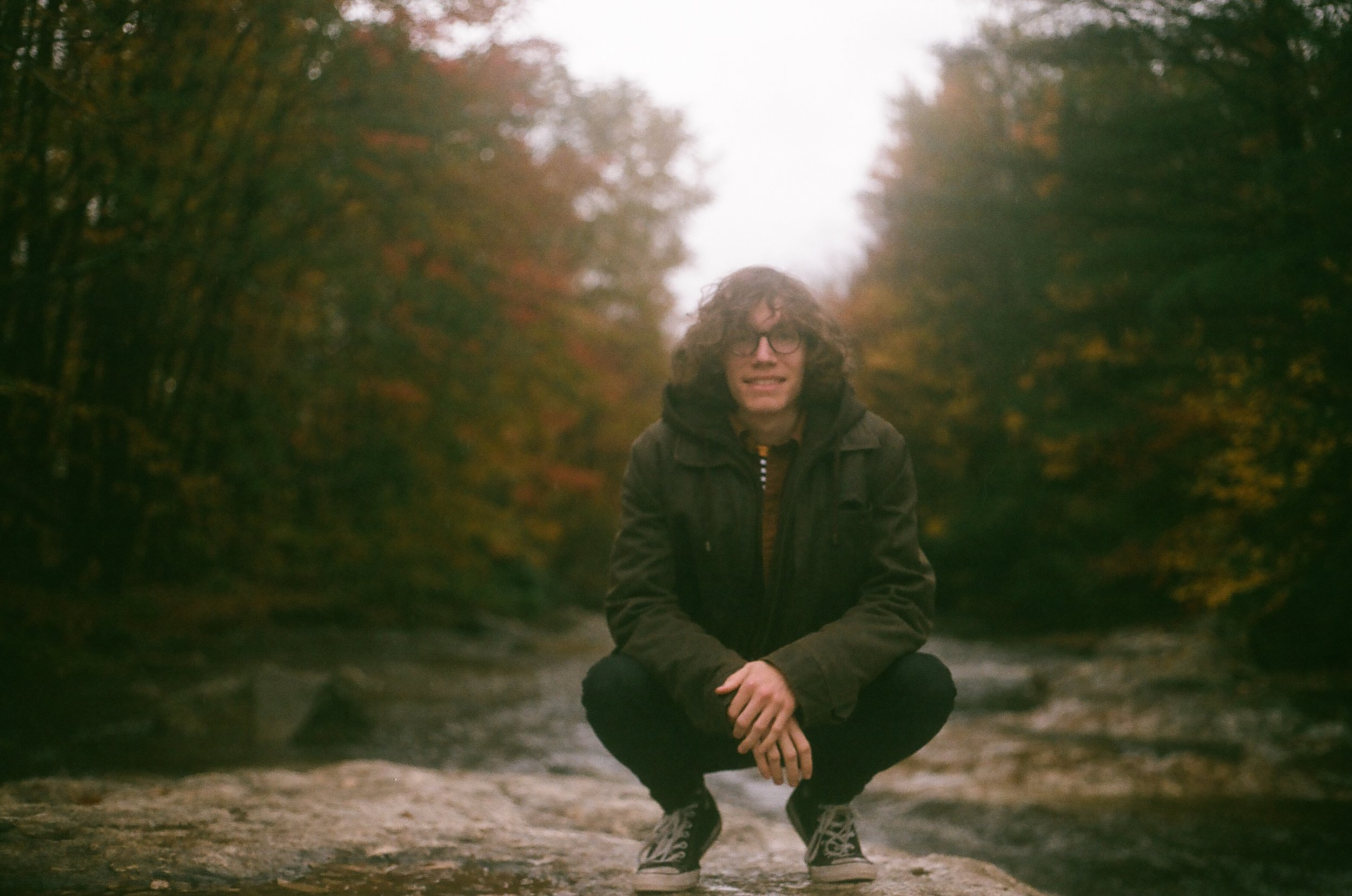 Me just around the river bend. Shot on 35mm