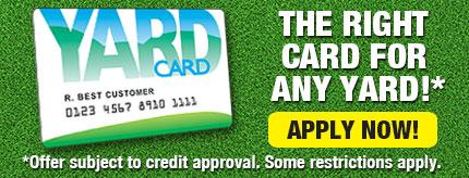 Yard Card Financing Available