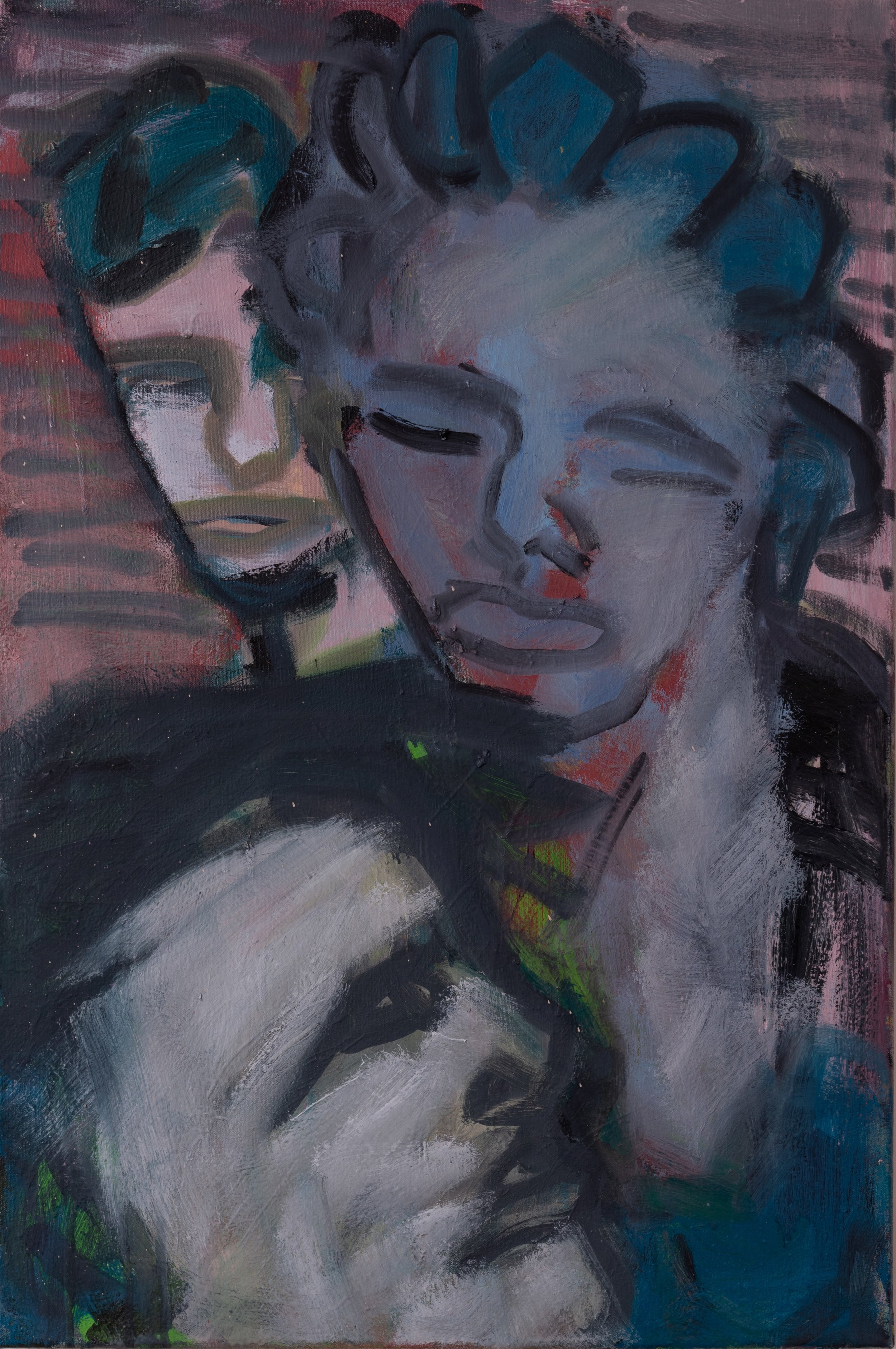 """Bystander To Their Love, Oil on Canvas, 24""""x36"""""""