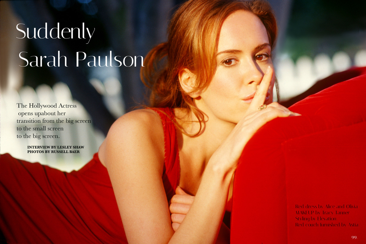 Sarah Paulson by Russell Baer cover.jpeg