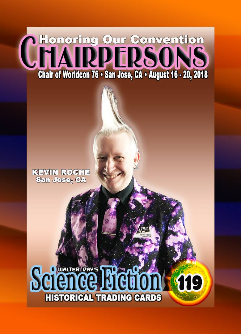 Kevin Roche trading card (Sent by Kevin Roche; Walter Day's Science Fiction Historical Trading Cards)