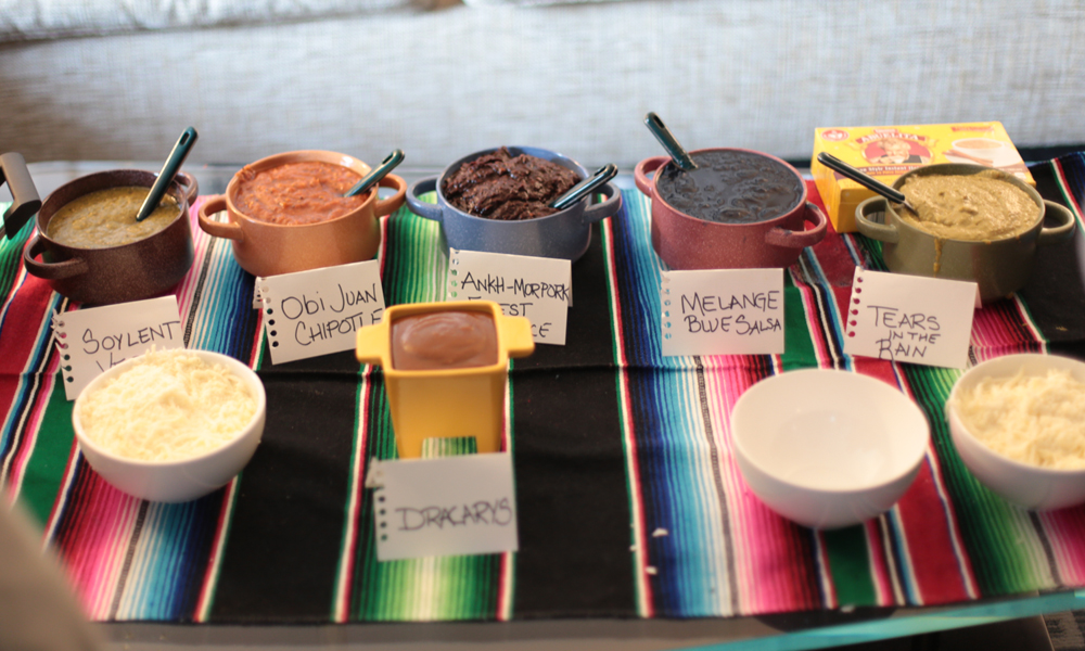 Delicious salsas created by Héctor González Hernández for the MexicanXInitiative reception.