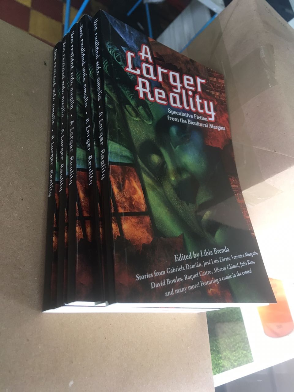 Finished copies of A Larger Reality