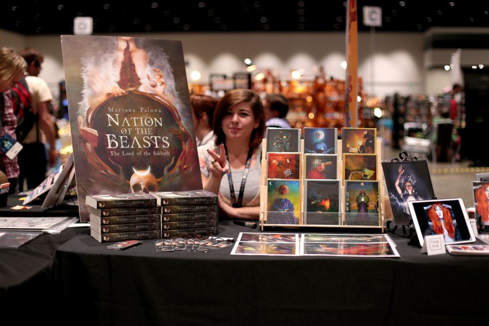 Mariana Palova with Nation of Beasts and her artwork