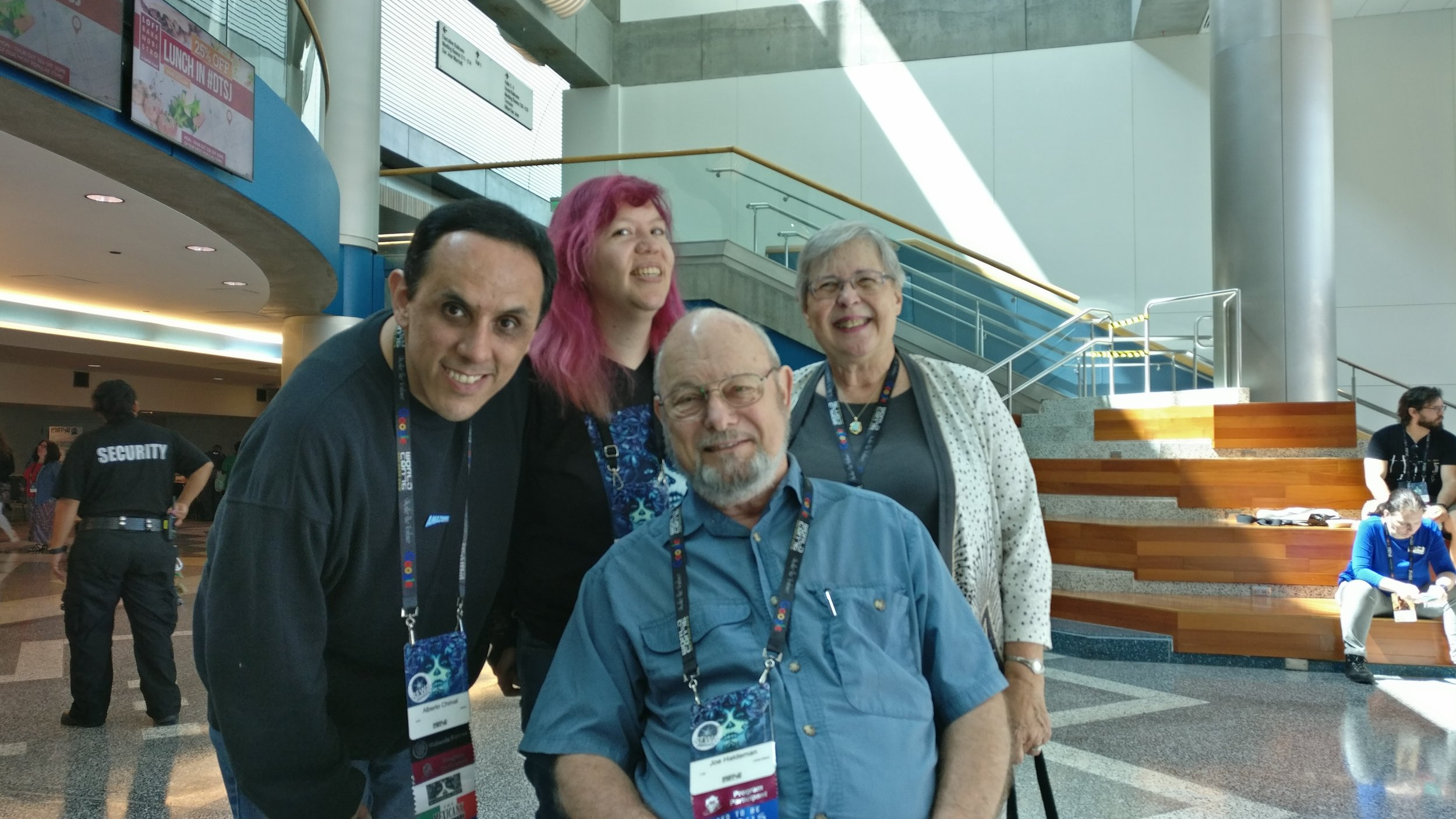 Alberto Chimal, Raque Castro, Joe Haldeman, and Gay Haldeman