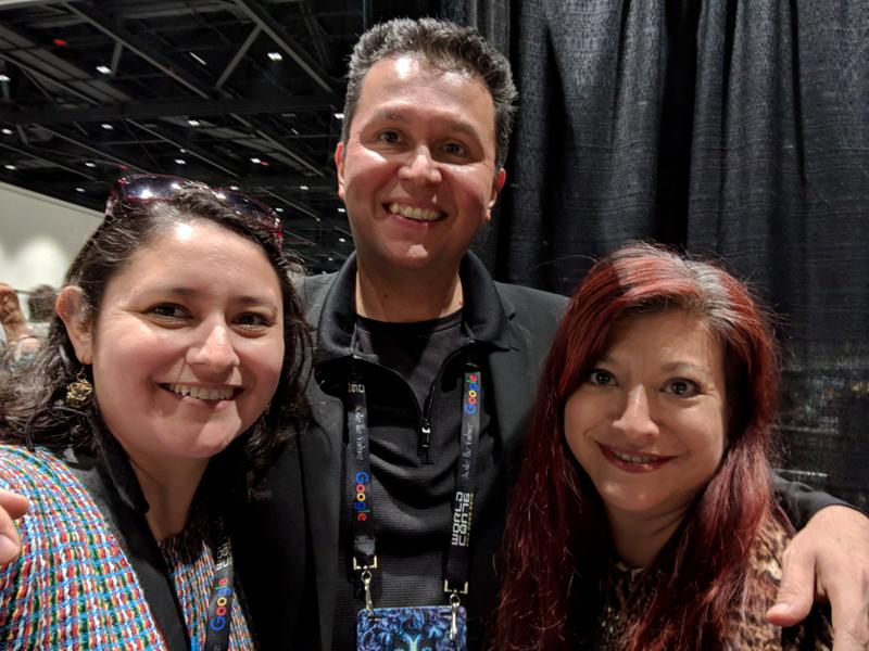 Dianita Cerón, John Picacio, and Adria Gonzalez