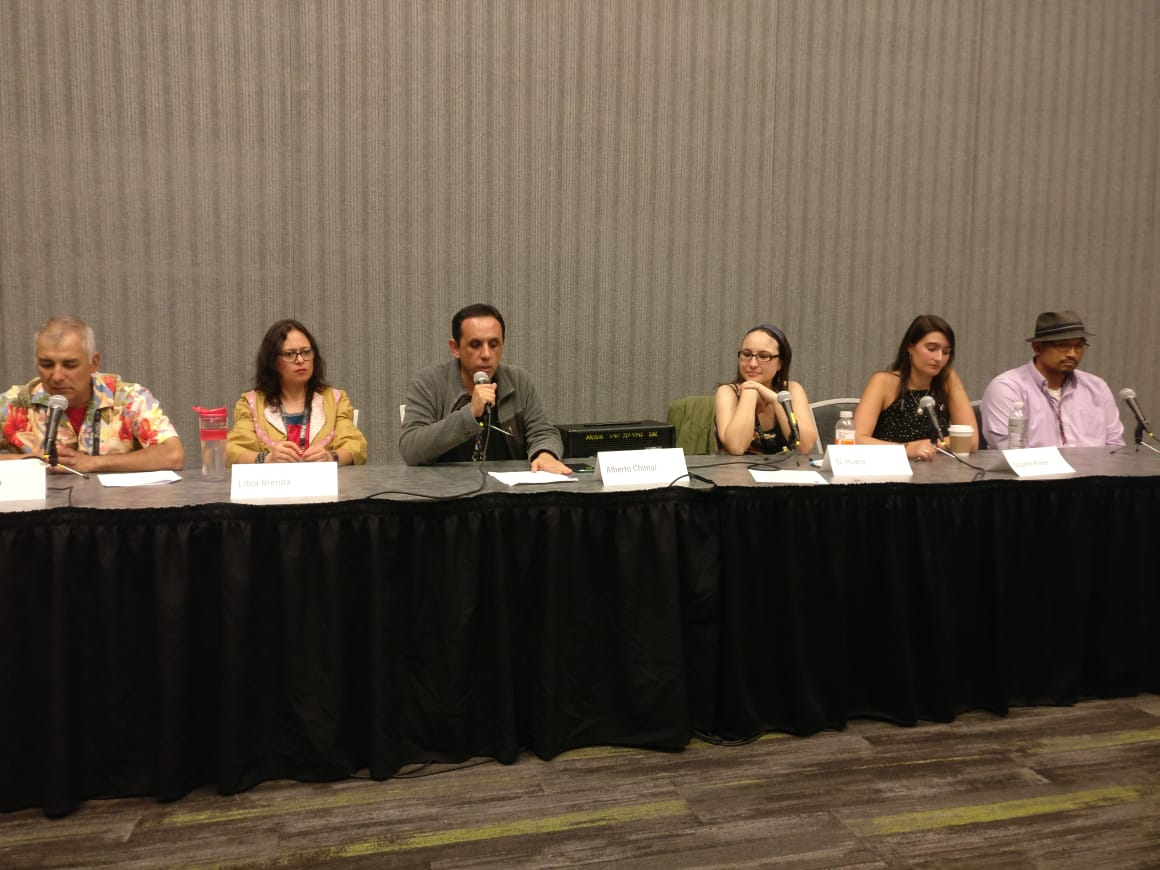The Fantasy Canon from the Margins panel (Photo by Alberto Chimal)