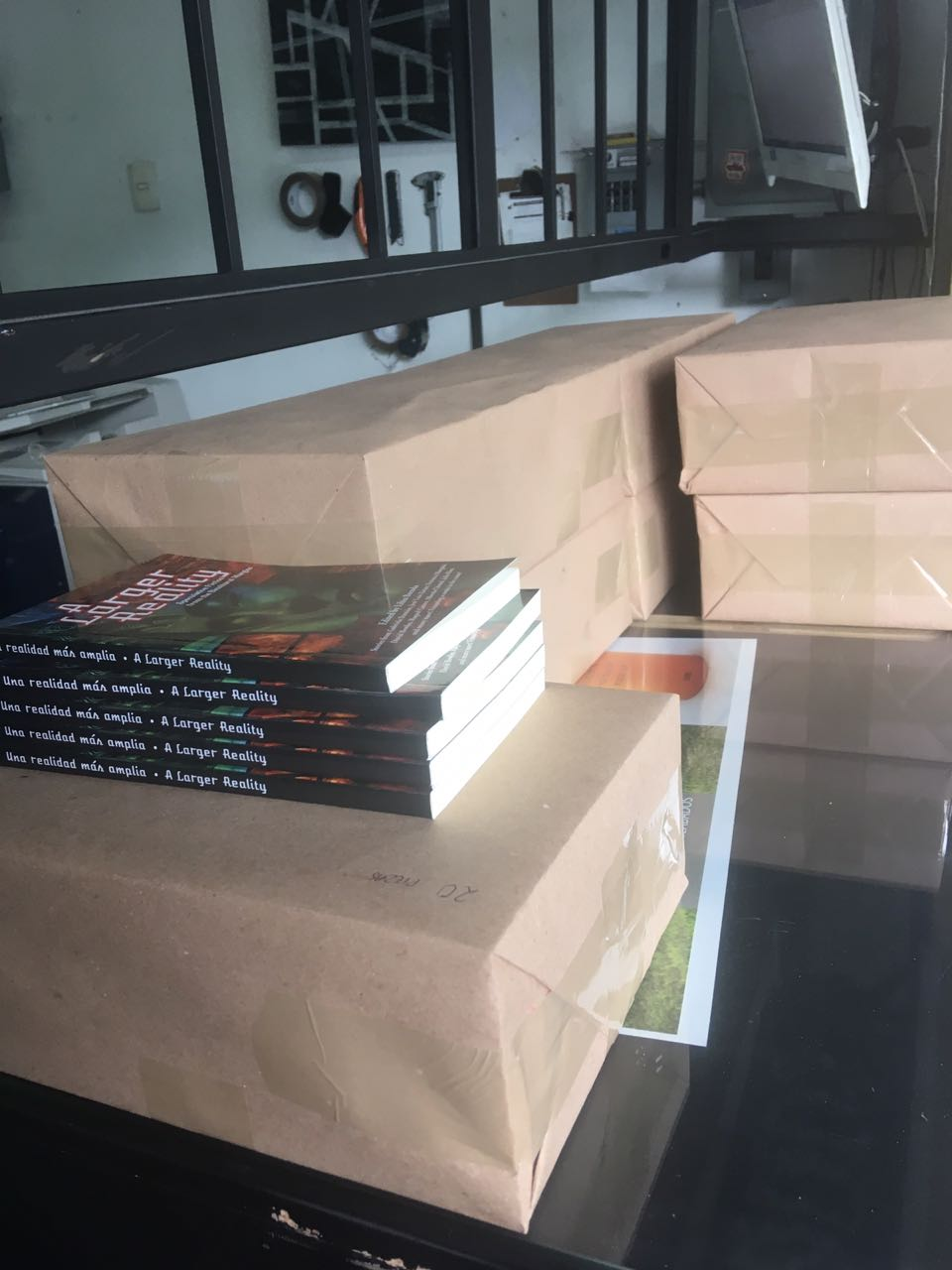 A Larger Reality  all packaged up and ready to go (Photo by Libia Brenda)
