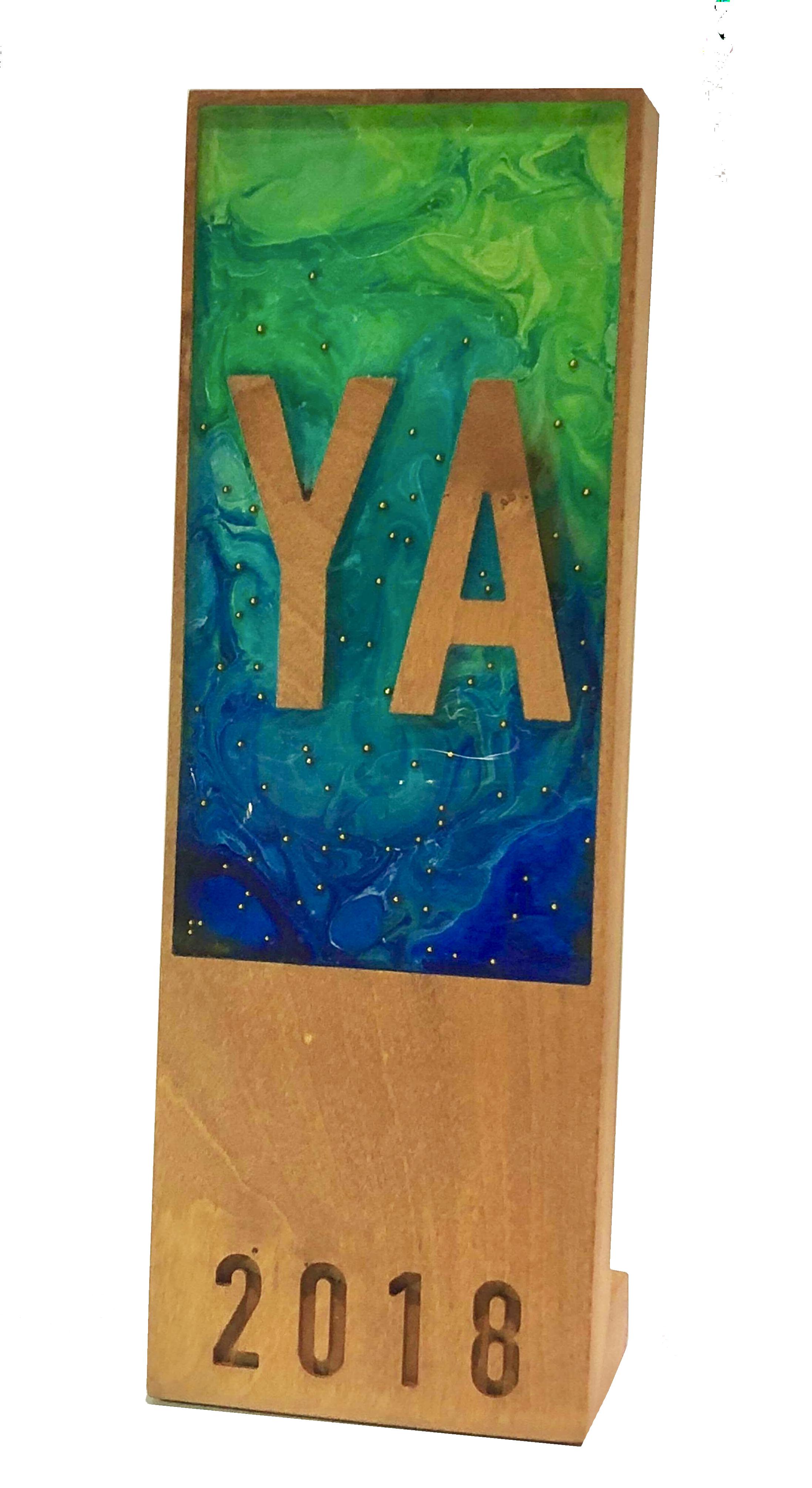 2018 YA Award designed by Sara Felix (Sent by Sara Felix; photo by Ryan Guggenheim)