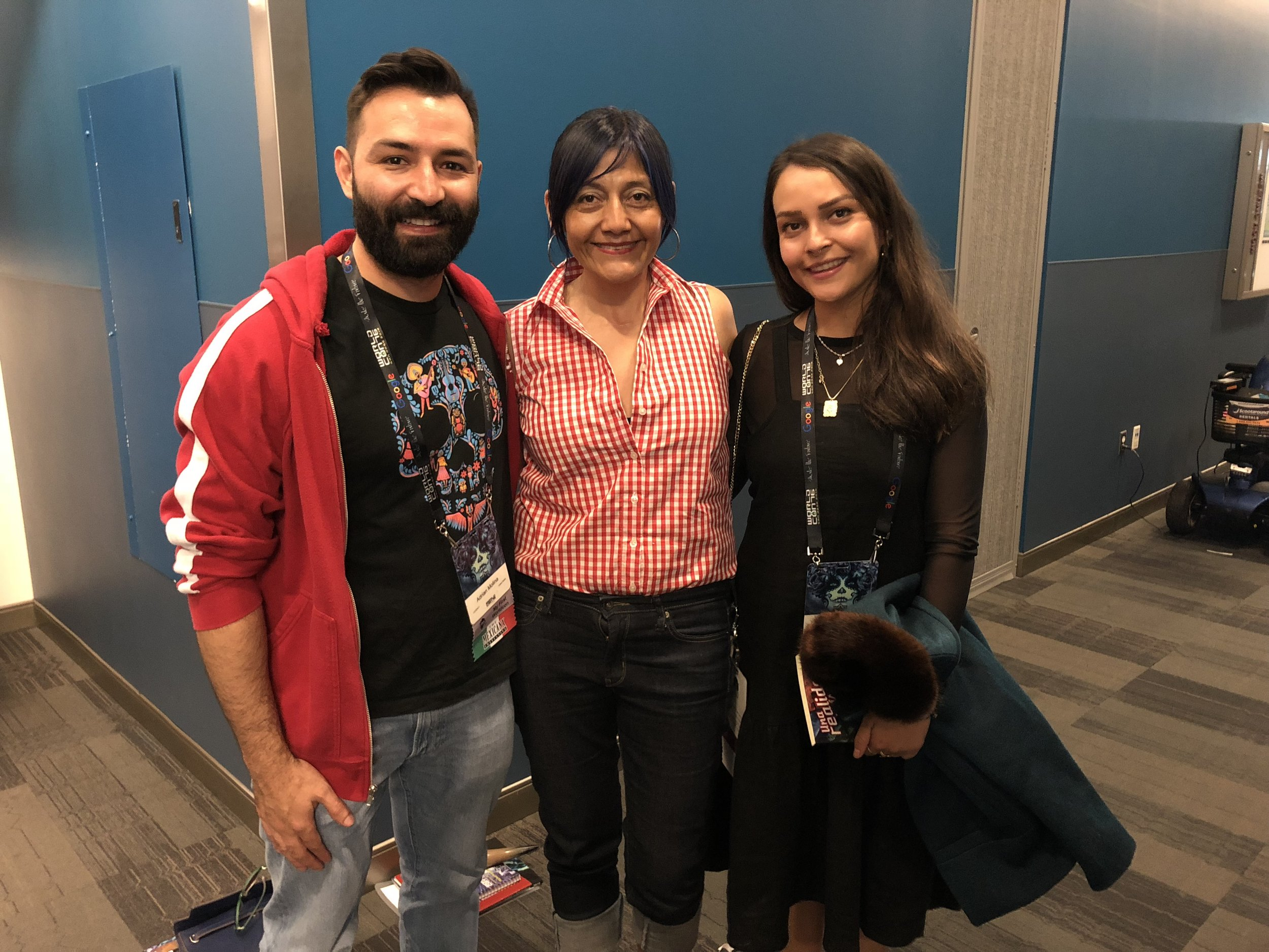 Adrian Molina, Patty Garcia, and Ana Ramirez (Sent by Patty Garcia; photo by Anonymous on Patty's phone)