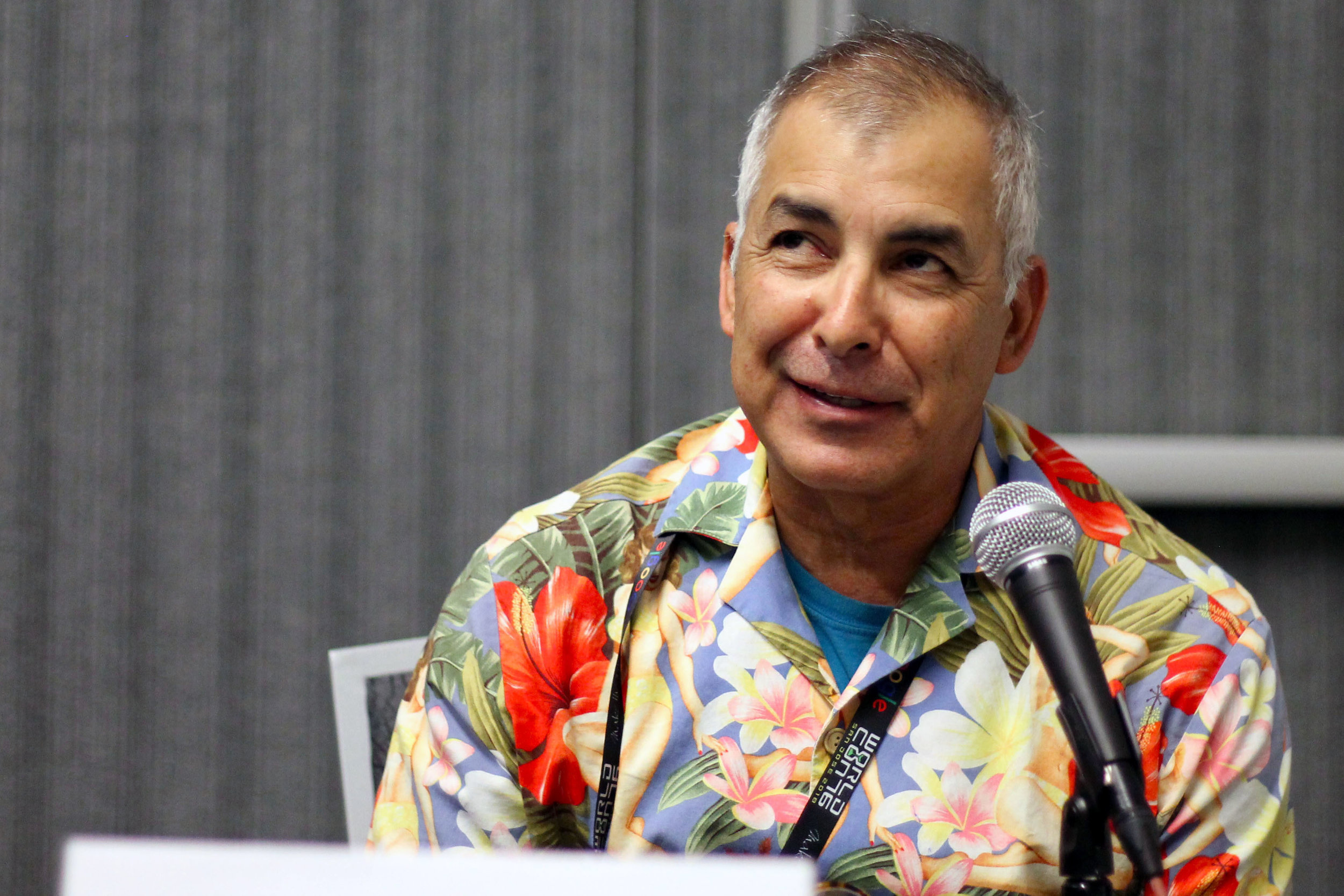 Mario Acevedo on the Beyond the Borders panel (Photo by Julia Rios)