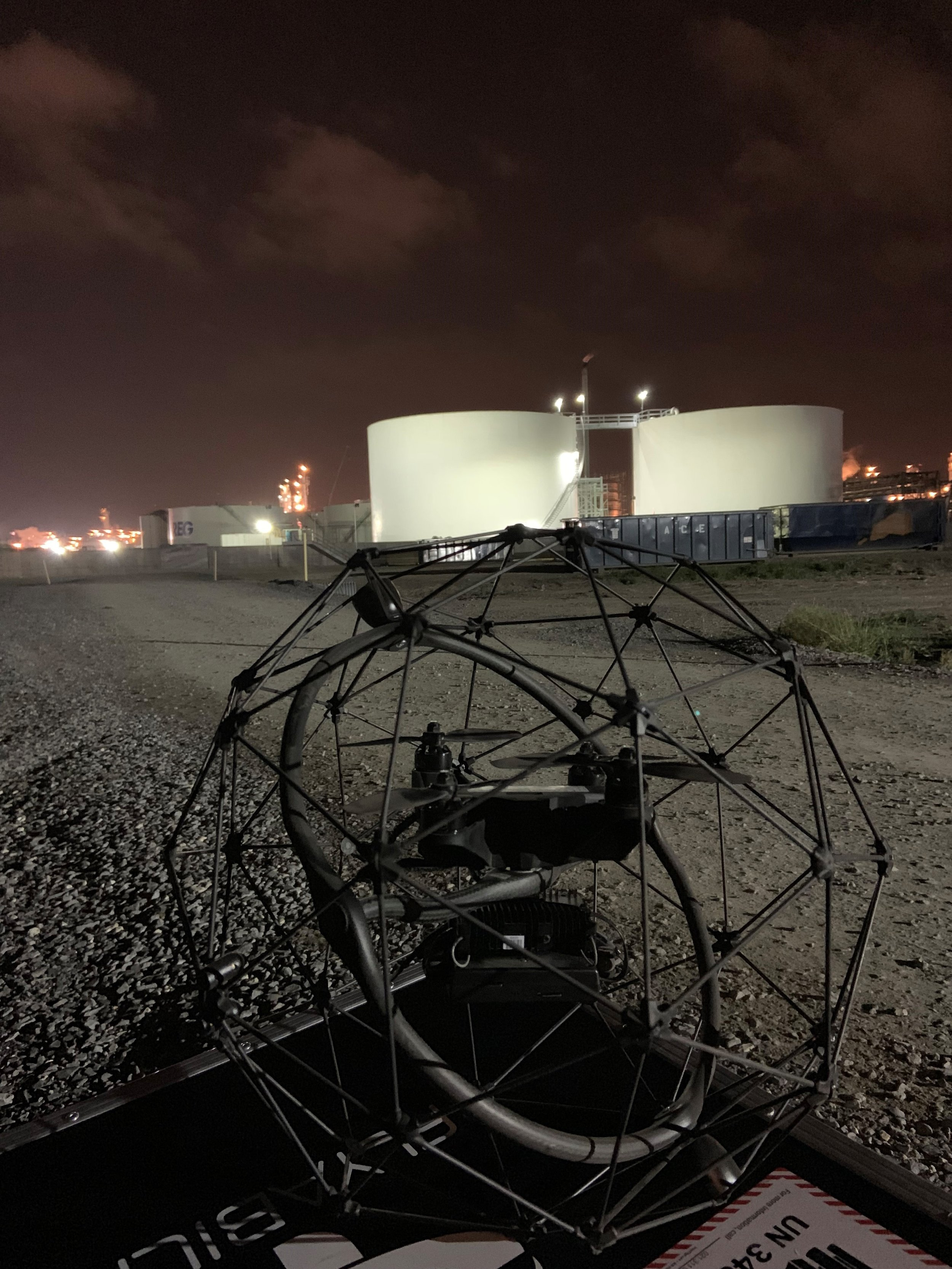 Confined Space Drone Inspection Storage Tank Inspection Foley Aerial Services New Orleans