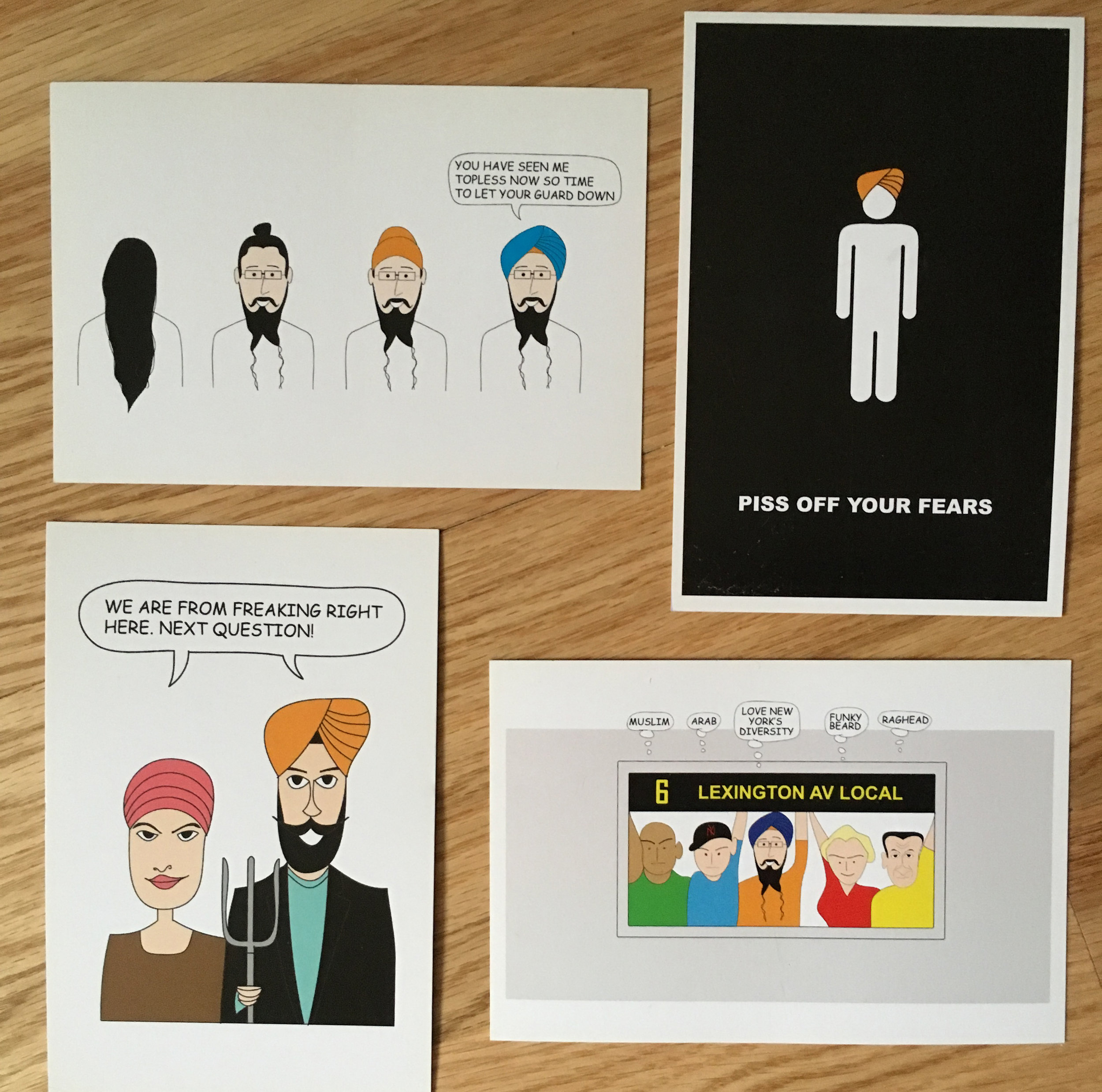 Postcards - Sourced from many Sikhtoons and designed for comic festivals, museum exhibit among other events.