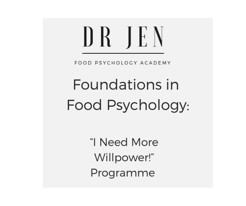 """Dr Jen's """"I Need More Willpower!"""" Programme - This Bonus Programme will help you discover my unique, 6 Step 'DRIVEN' Process - getting you to the heart of your willpower - fast."""