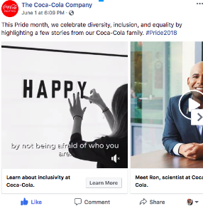 Coca-Cola Pride Social Post