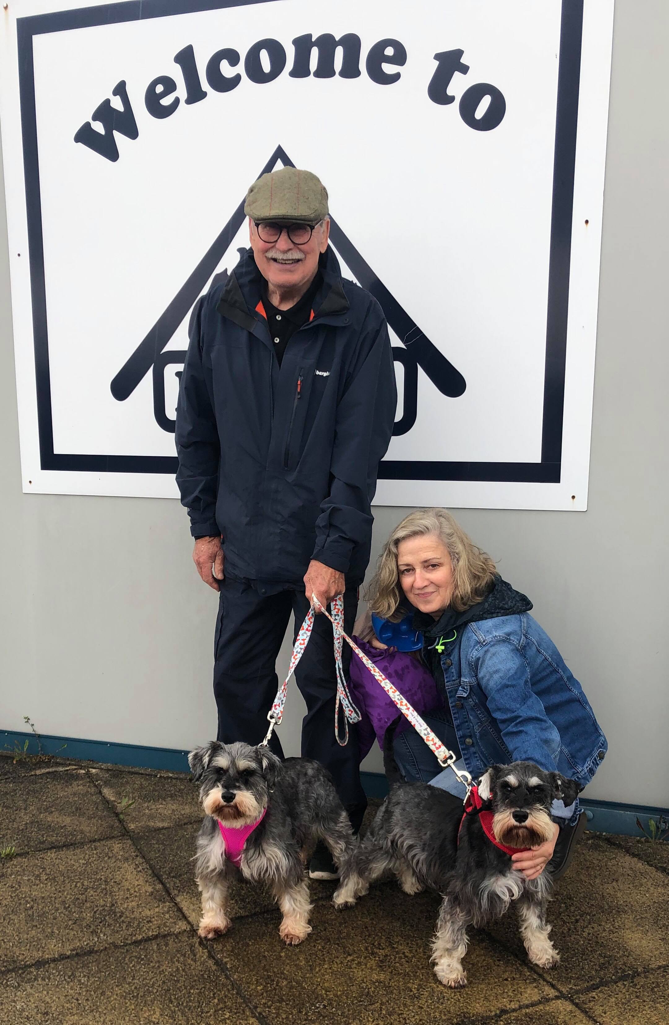 Pansy and Dennis all set to head off with their new family