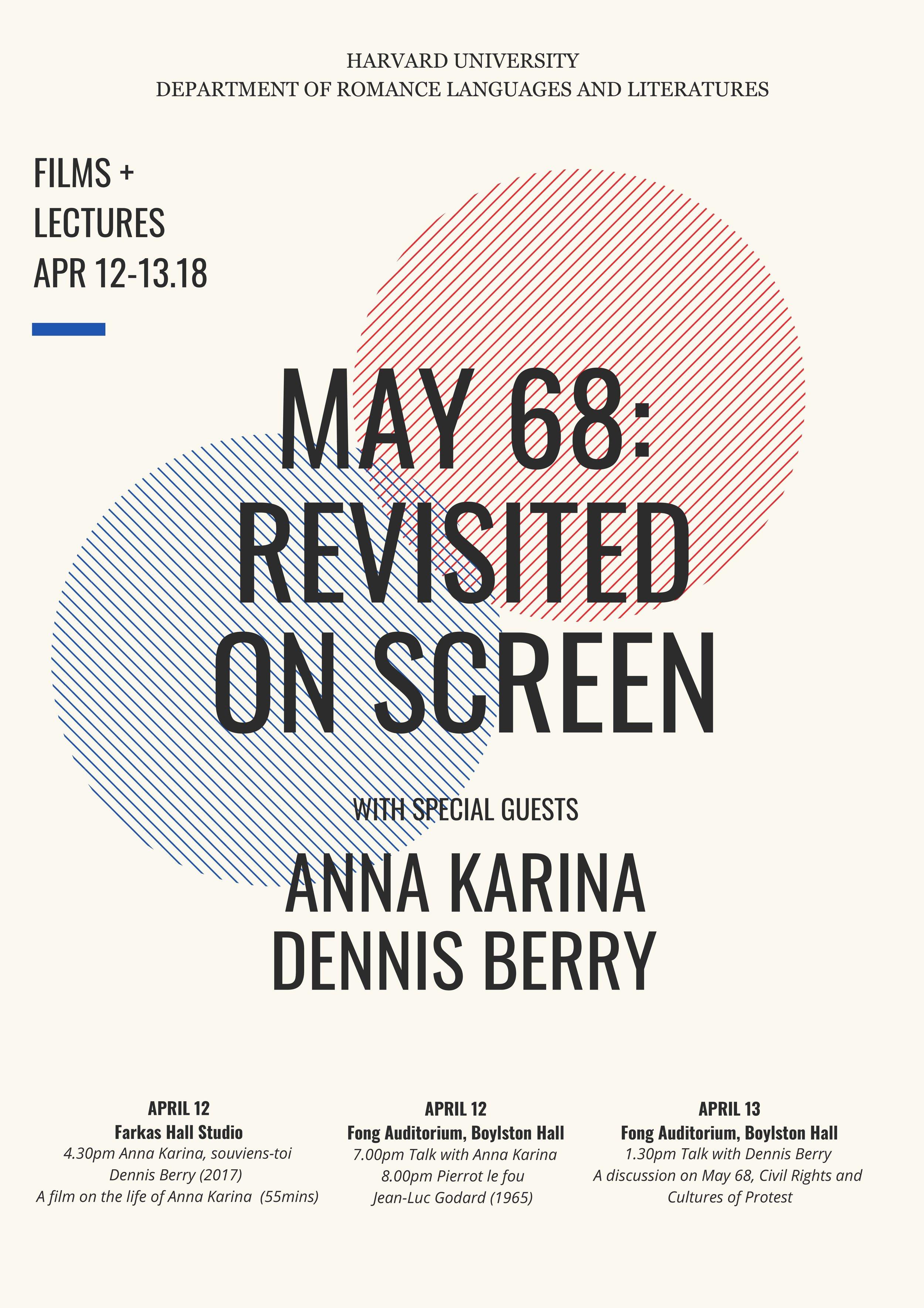 Harvard Lecture Series April 11-14, 2018