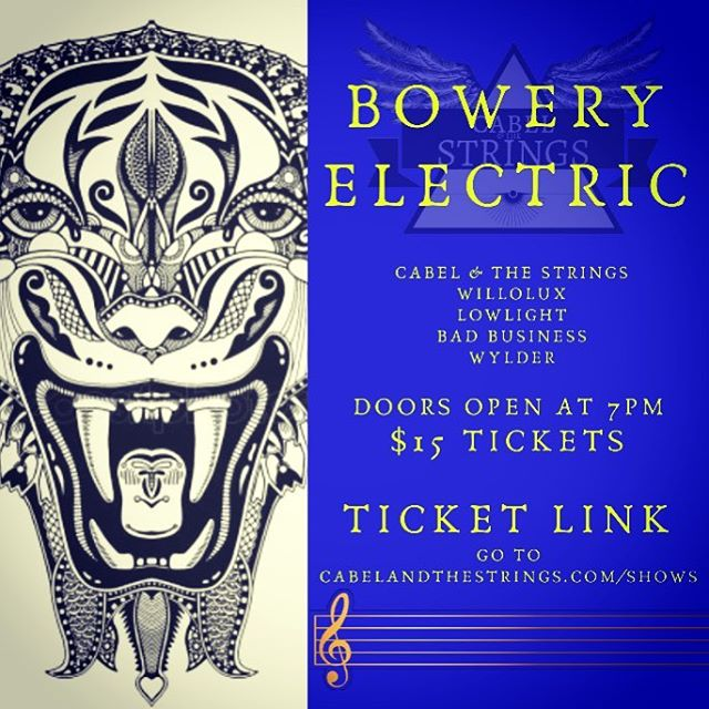 What are you doing tonight?  See the lineup @theboweryelectric  Follow the link to my website to get your tickets. You won't regret it. • • • • #nyc #nycmusic #live #livemusic #localmusic #witness #nyctalent #livemusicnyc #boweryelectric