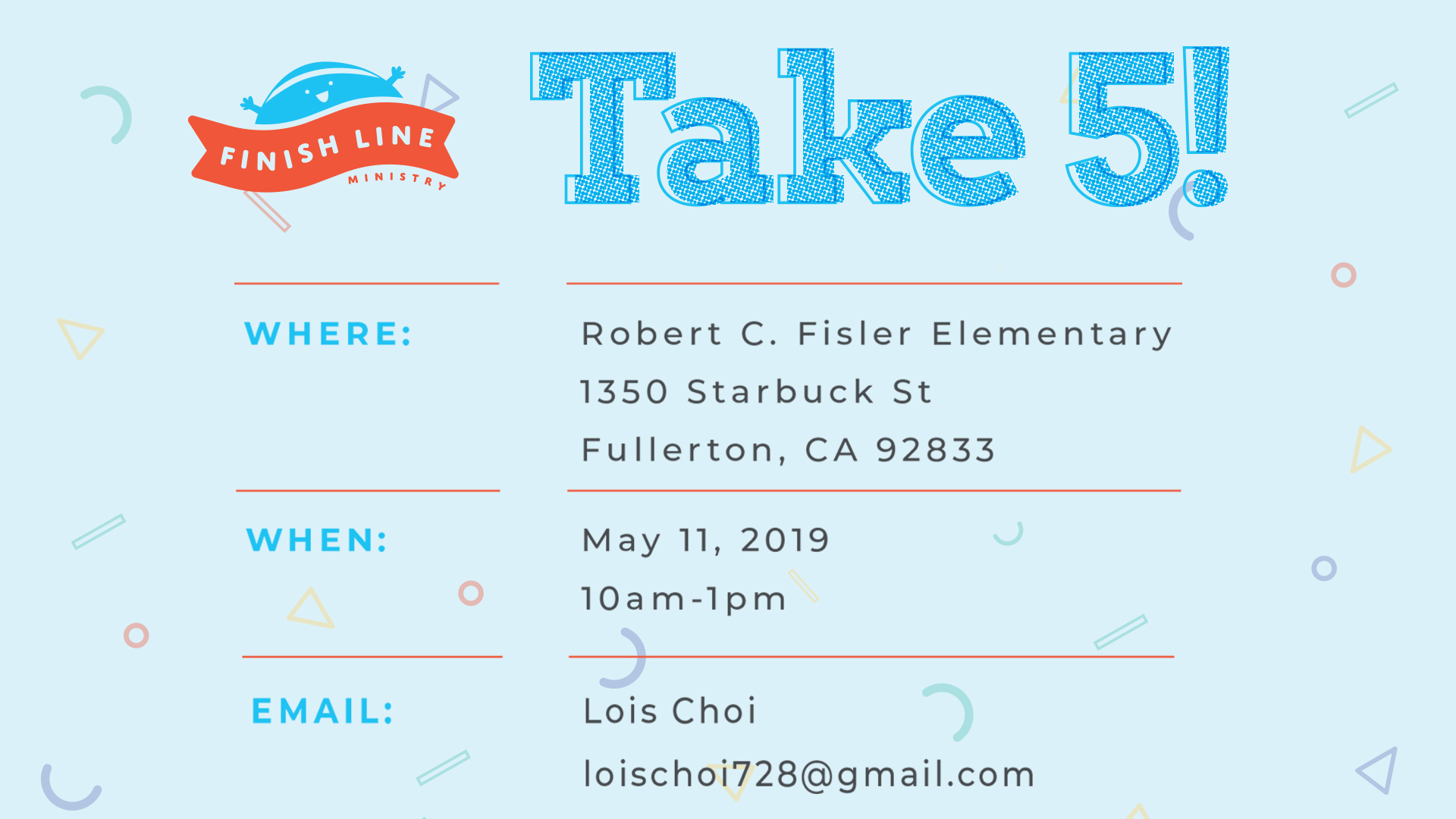 Take 5! Hosted by Finish Line Ministry.jpg