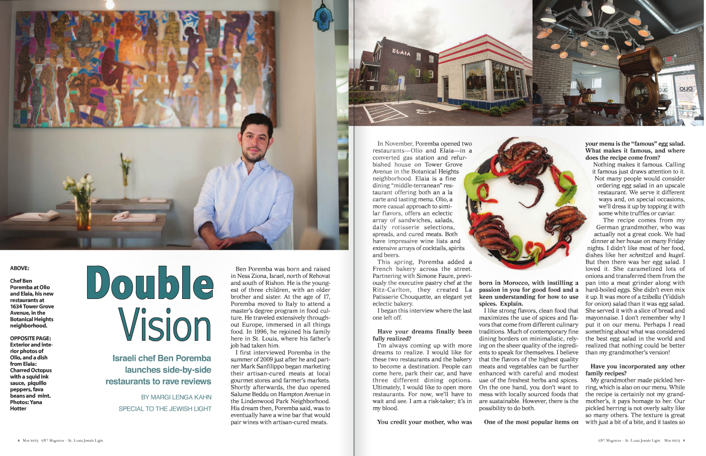 Client: St. Louis Jewish Light Skills/ My Role: Magazine Design and Page Layout. Typography.