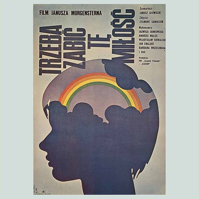 Feeling a bit dreamy this Tuesday. We've got the end of term snoozies in this house. This poster by Swierzy was designed in 1972 for a Polish movie - 'To Kill This Love' - (title is less dreamy admittedly 🙃!) . . . #waldemarswierzy #polishposter #midcenturymodern #graphicdesign #seventiesdesign #vintagefilmposter