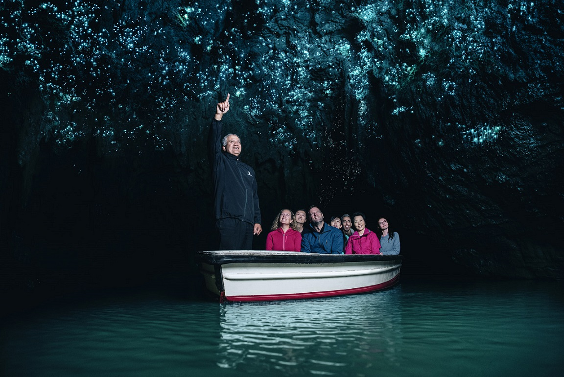 Waitomo Caves boat.jpg