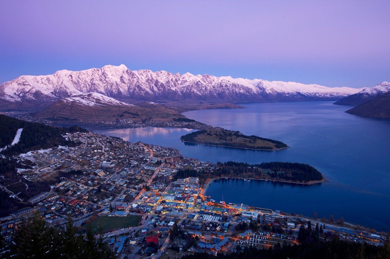 Aerial views of Queenstown at dusk, winter.jpg
