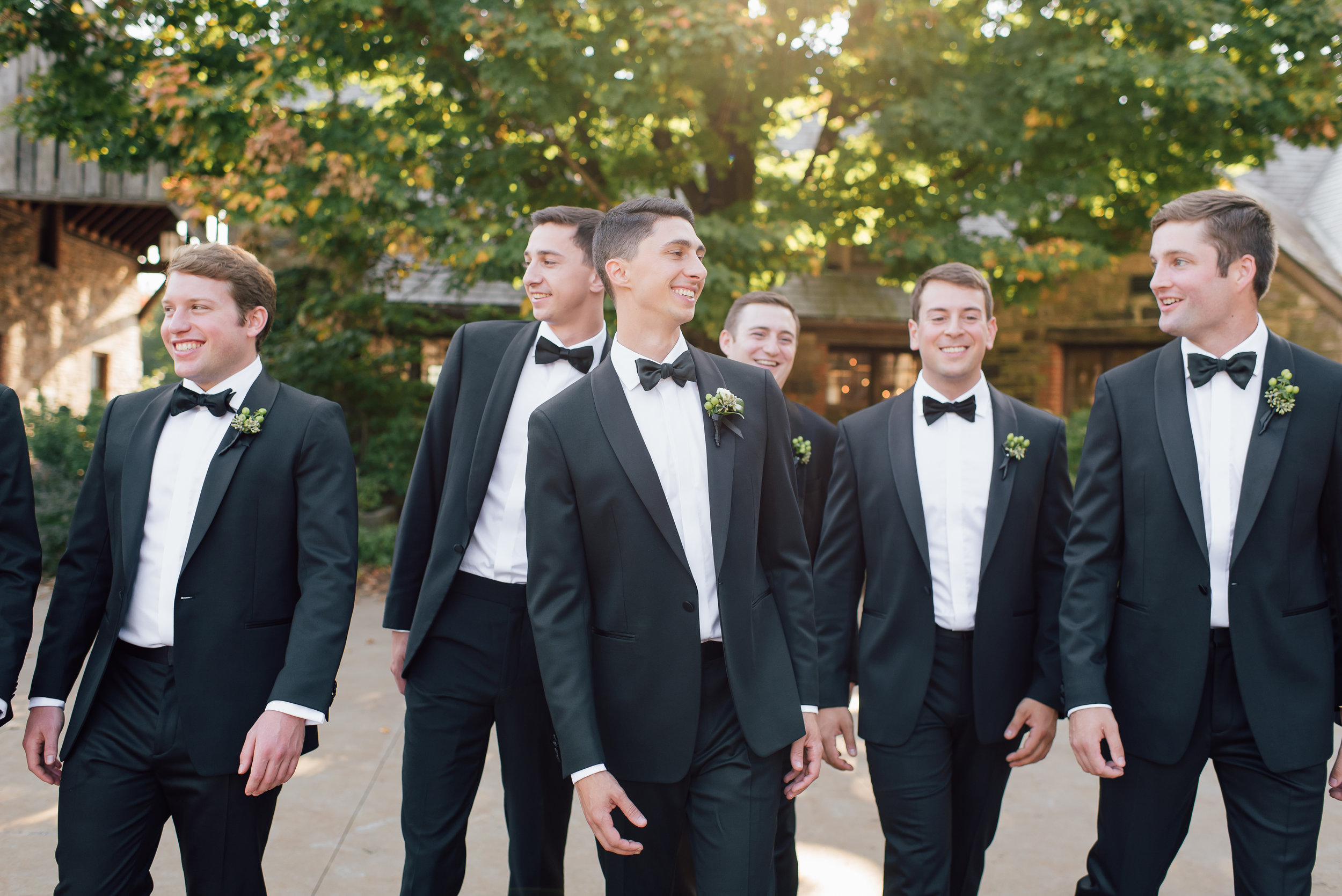 groomsmen bridal party blue hill_stone barn wedding NY