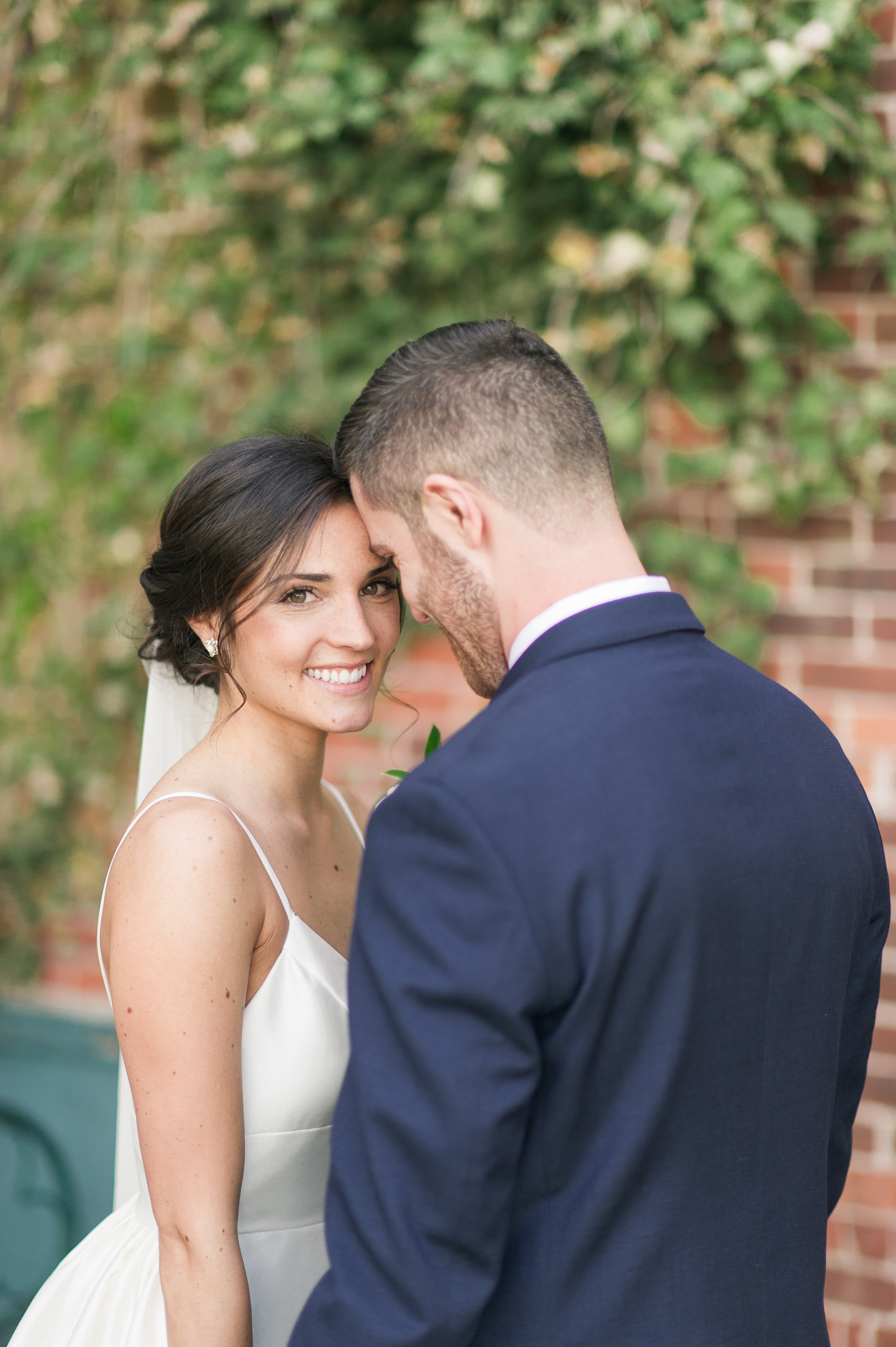 bride and groom lace factory_CT spring wedding lace factory_stephanie and steve wedding