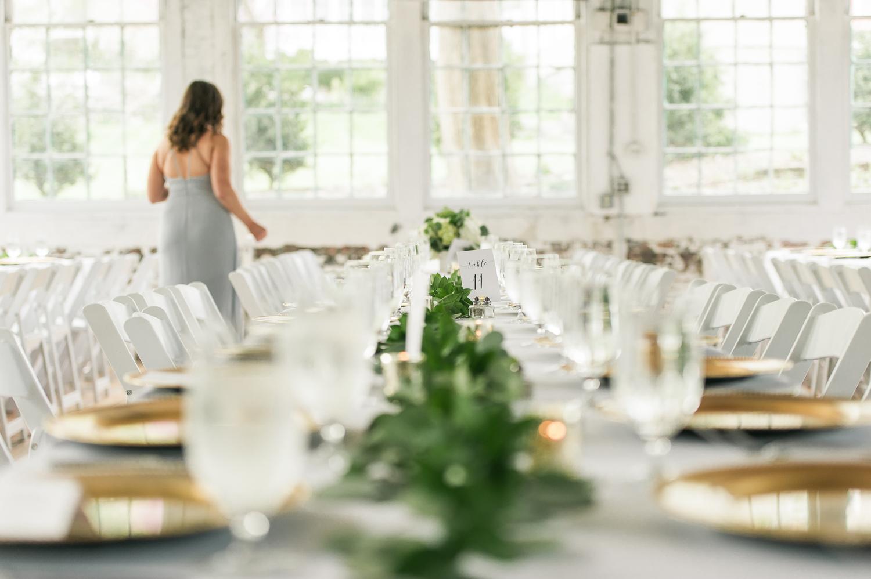 lace factory wedding decor_long tables at wedding_eucalyptus garland wedding