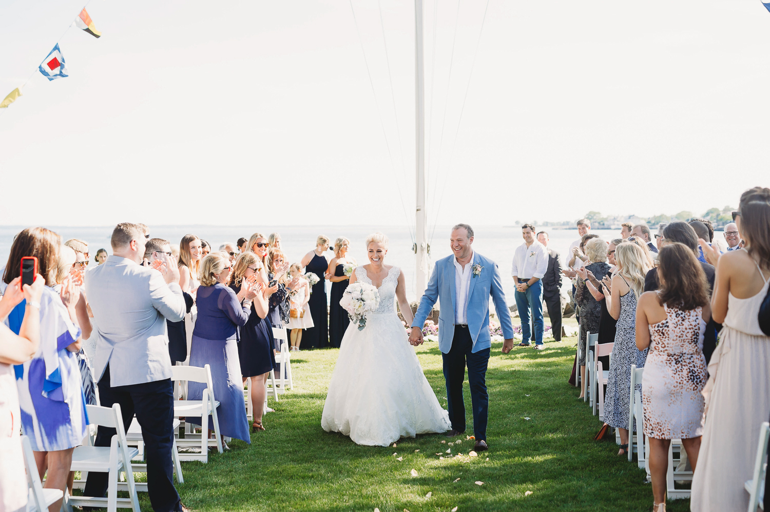 wedding processional_stamford wedding ceremony outdoors_ct wedding photographer