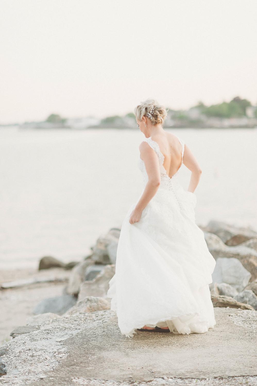 bridal portrait CT wedding_stamford wedding yacht club